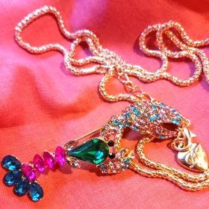 Betsey Johnson Lobster necklace pendant HTF rare!!